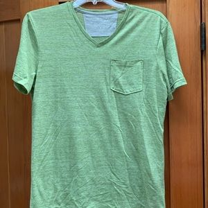 Banana Republic Vintage Linen Blend V-Neck Tee, M
